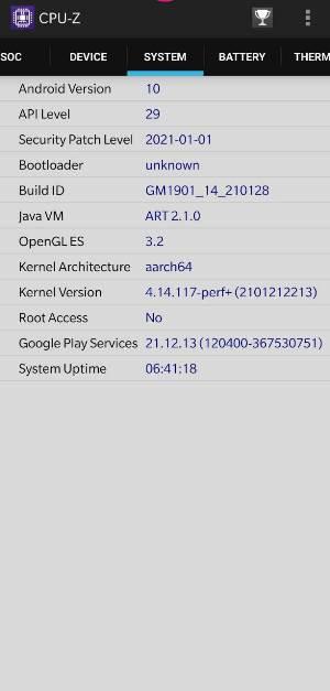 CPU Z app Google GCam not working